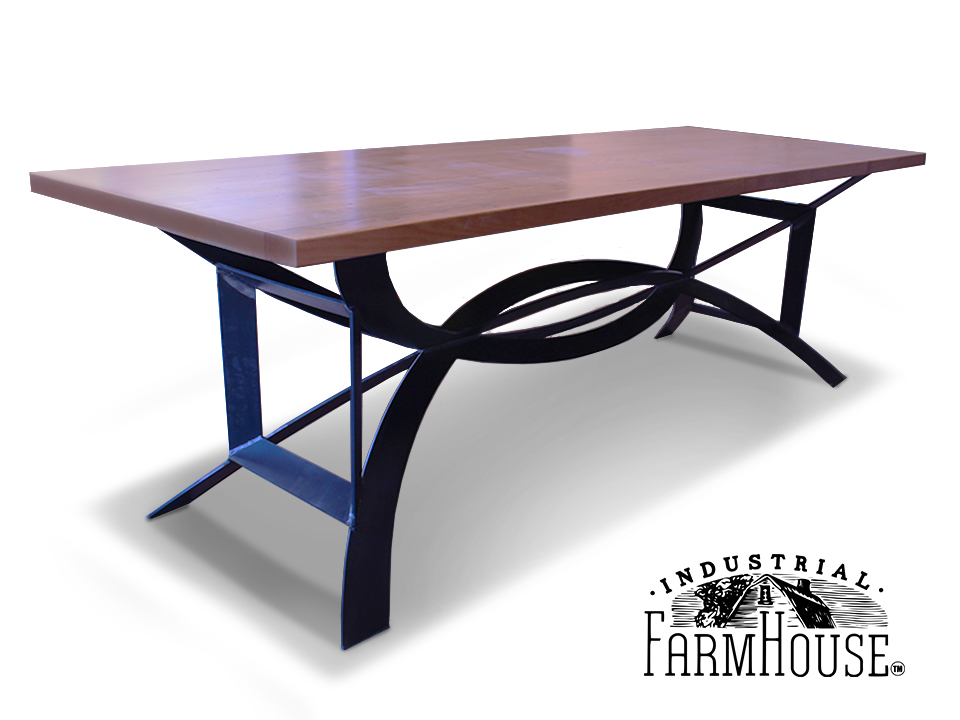Superbe Modern Rustic Table With DC Base