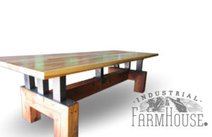 Rustic Heart Pine Table with ATT base