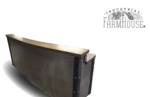 Restaurant/Office Tufted Metal Front Reception Desk