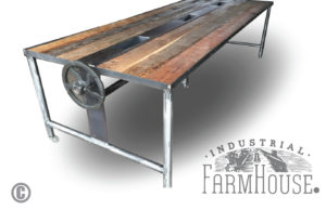 Rustic Barnwood Conference Dining Table
