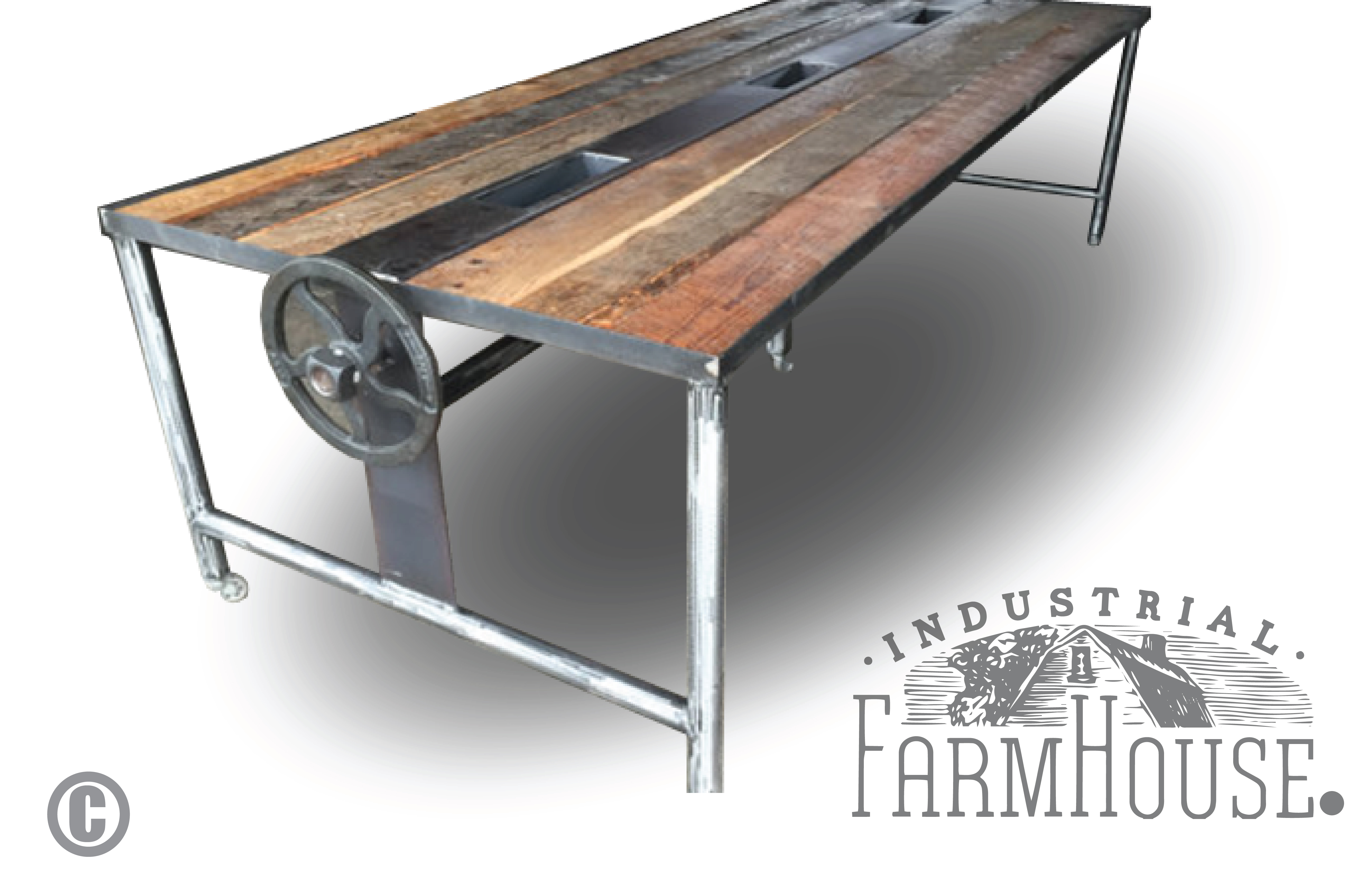 Rustic Barnwood Conference Dining Table The Industrial Farmhouse - Farmhouse conference table