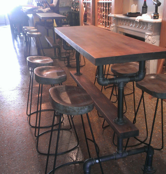 Industrial farmhouse bar height kitchen table the industrial farmhouse - Industrial kitchen tables ...