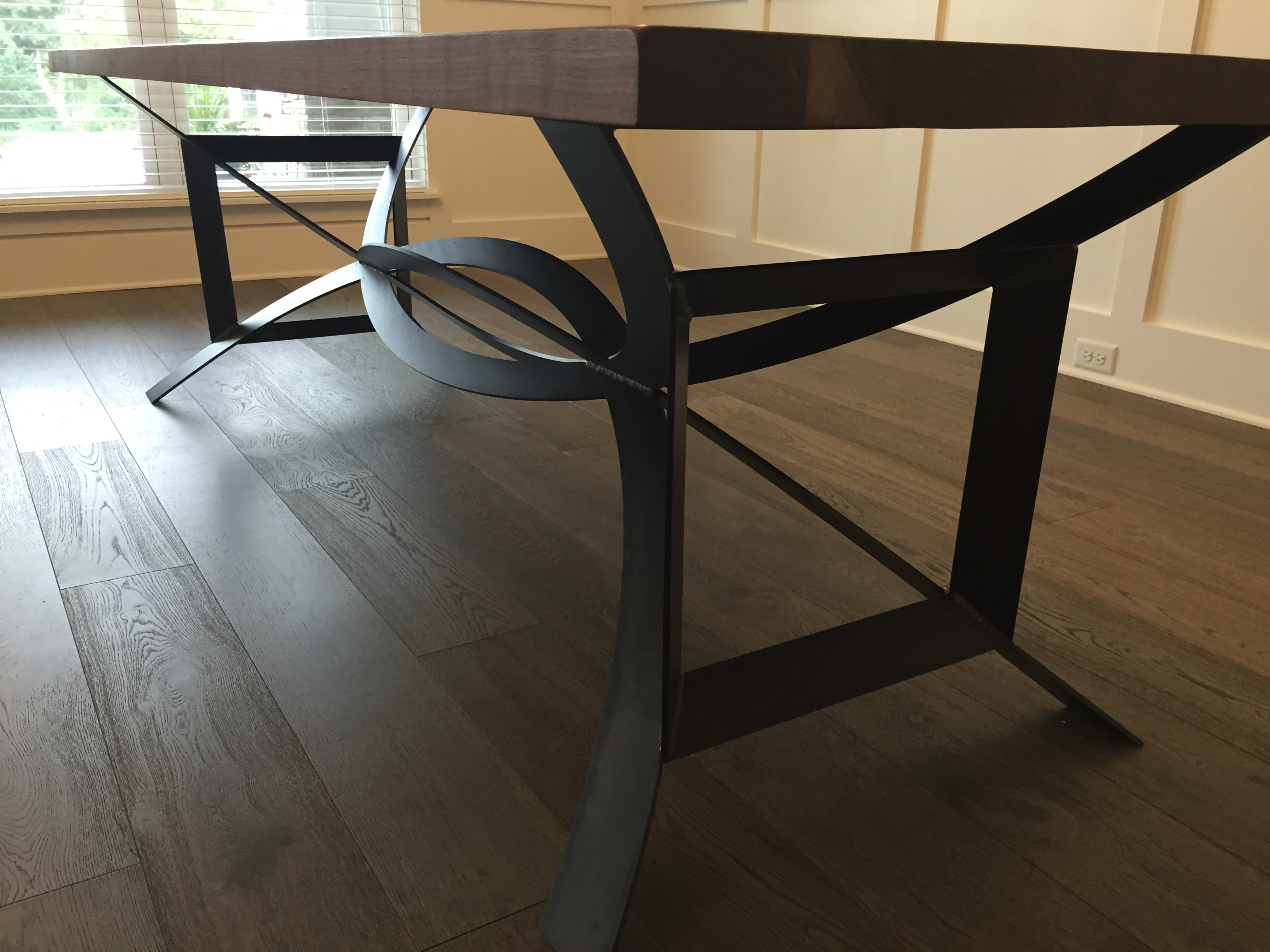 Modern Rustic Table With Dc Base The Industrial Farmhouse