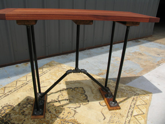 Mahogany Console Table The Industrial Farmhouse