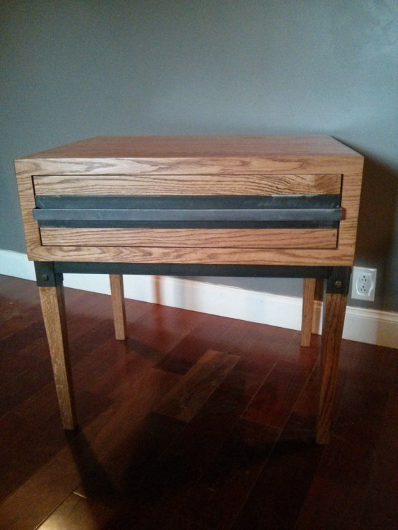 Solid heart pine coffee table the industrial farmhouse for Industrial farmhouse coffee table