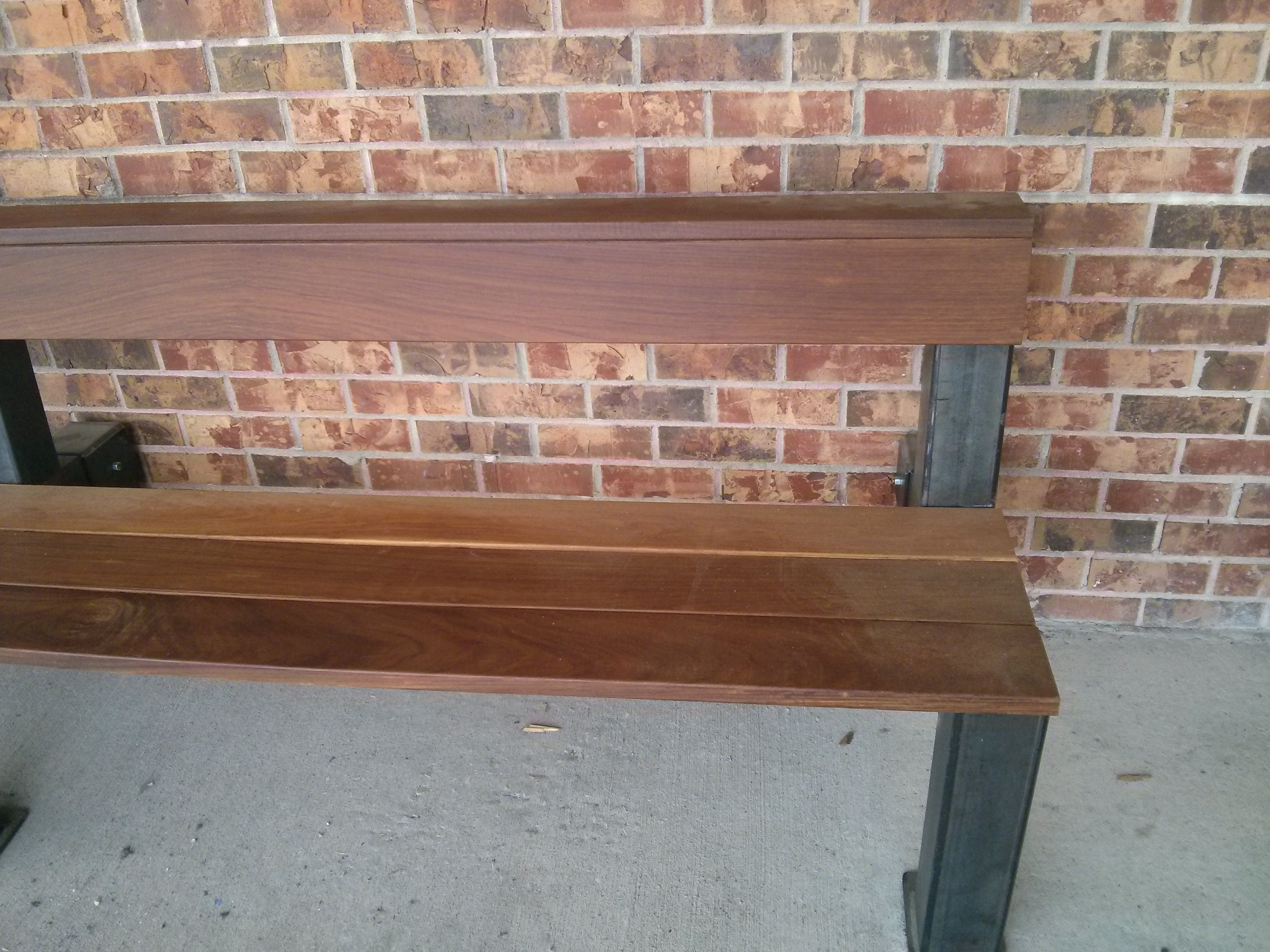 Modern Wood Bench : products_outdoor_modern_industrial_style_ipe_wood_bench2