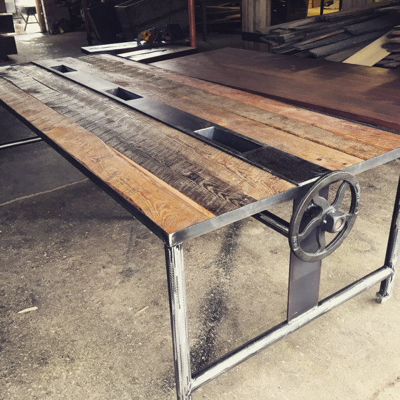 Barnwood Dining Room Tables: Rustic Barnwood Conference Dining Table