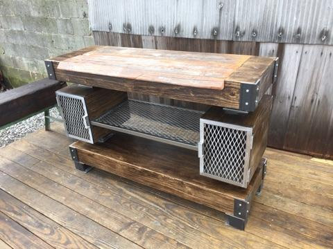 Rustic Industrial Wine BarBuffet Table The