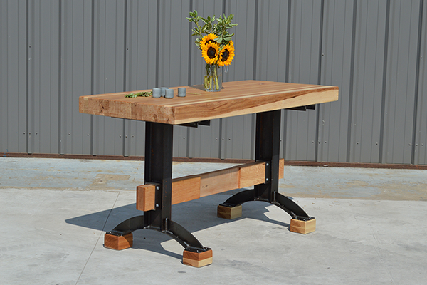 Farmhouse Products Rustic Minimalist Butcher Block Island Table