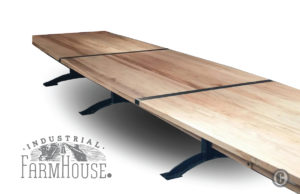 Rustic Minimalist 20' Table with Pratt Base