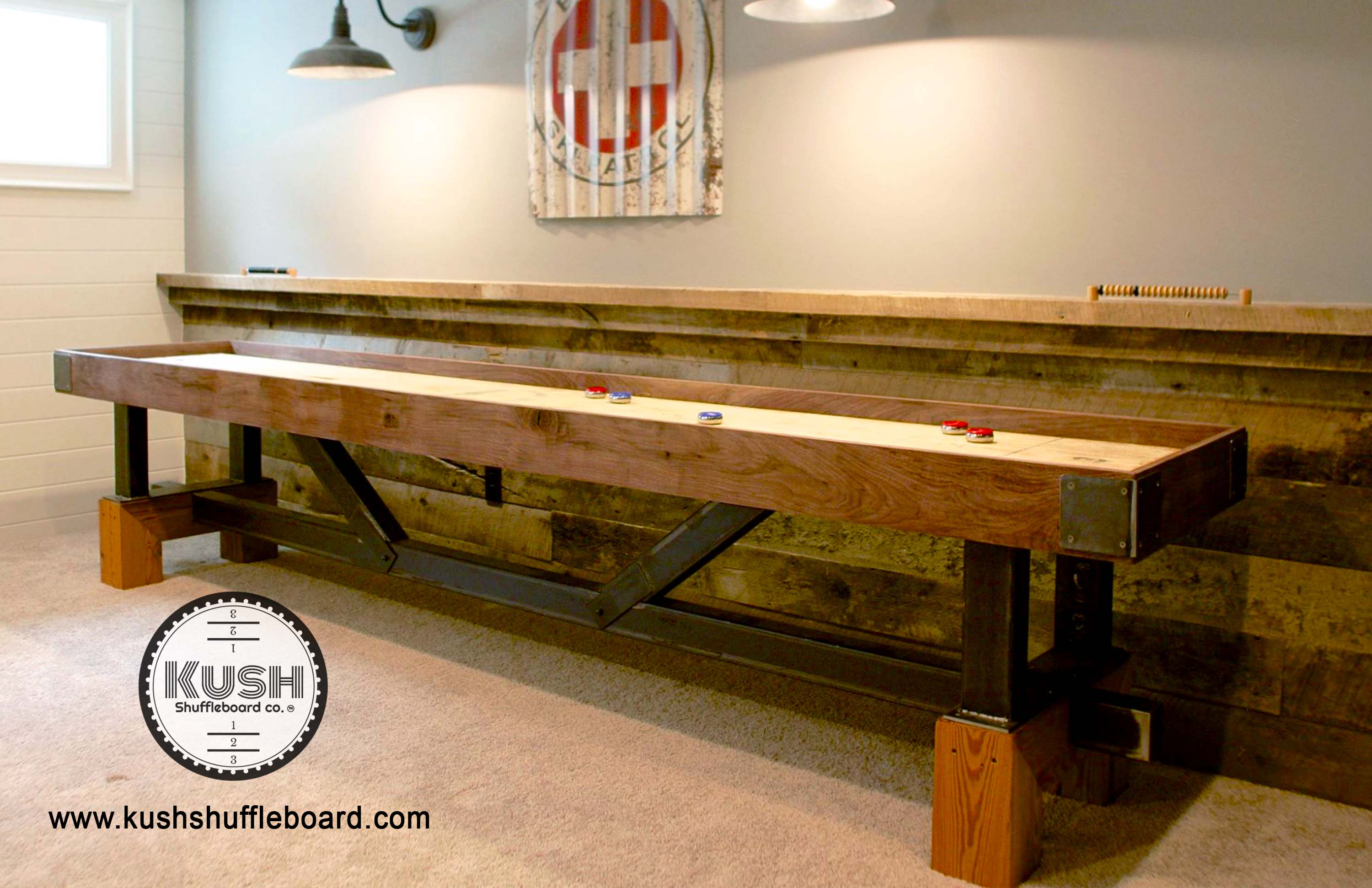 Signature Shuffleboard Table The Industrial Farmhouse