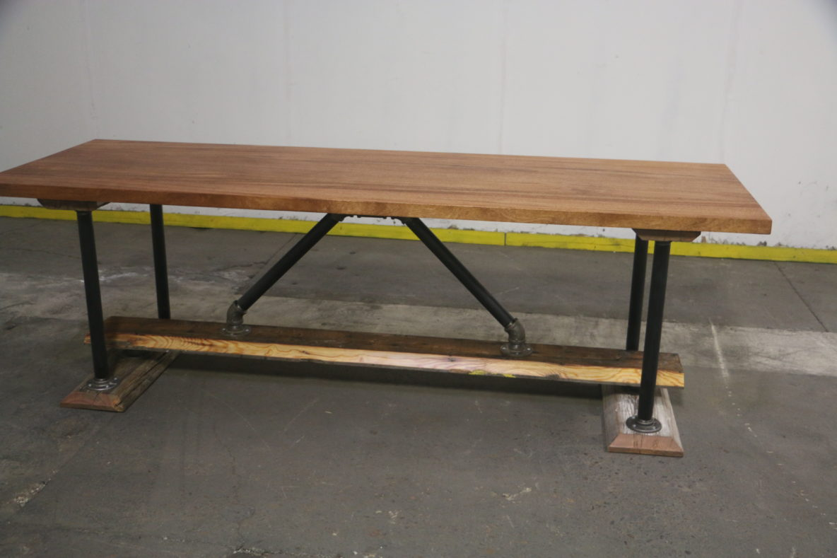 outdoor modern industrial style picnic table the